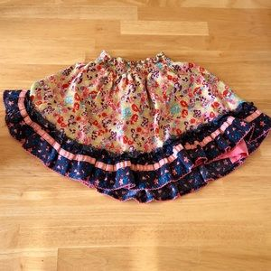 Matilda Jane Floral Print Skirt Sz 4